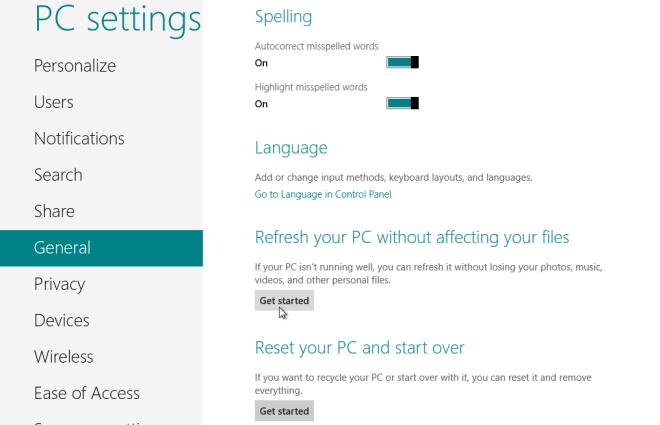 How to Reinstall Windows 8 - Cheeky Munkey