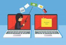 Phishing scam on laptop